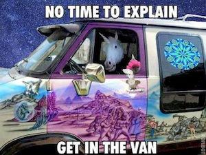 unicorn get in the van