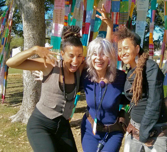 Climbing Poetree and Caroline Casey at Bioneers