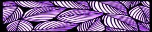 purple border leaves